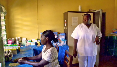 The dispensary at St John's Health Centre, Domeabra, Ghana
