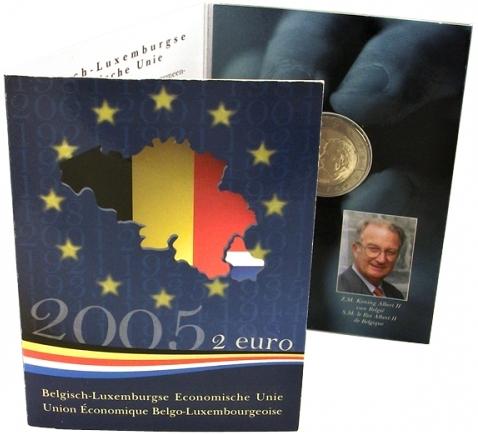 2 Euro Belgicko 2005, Ekonomická únia - originál folder