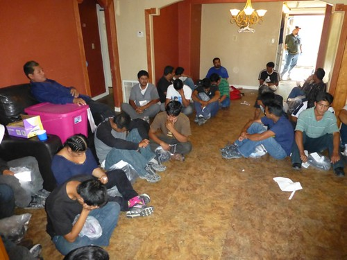 <p>Conditions inside this human stash house are shocking.  Migrants often pay thousands of dollars to be led across the border, sometimes spending months in these conditions while waiting for the next leg of their journey.</p>
