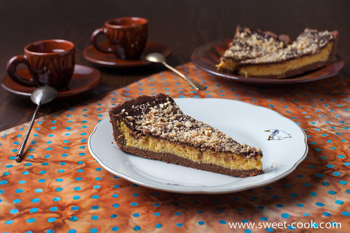 chocolate cheesecake with mango