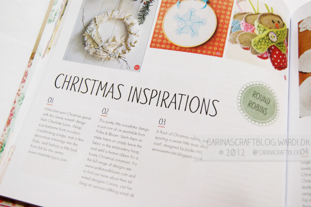 That's my snowflake design in the Mollie Makes Christmas book!