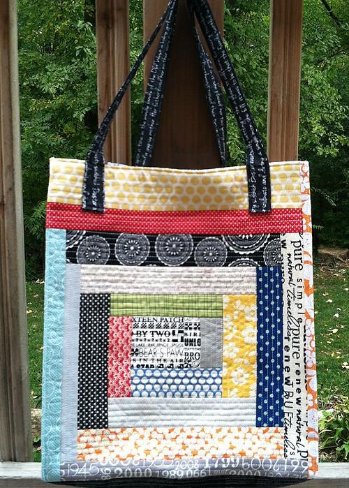 A Quilt as You Go Tote ~ Fresh Lemons Modern Quilts : quilt as you go tote - Adamdwight.com