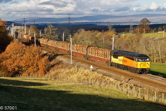 56087 6J37 Kingmoor - Chirk passes Great Strickland