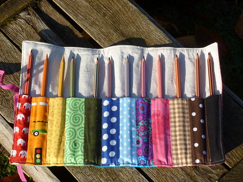 Rainbow Pencil Roll