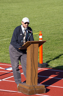 Faxon Field - Quincy Track Club director Goeff Hennessey speaks