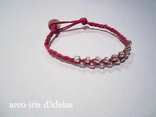 Pulseira Rosa e Prata n.º 4
