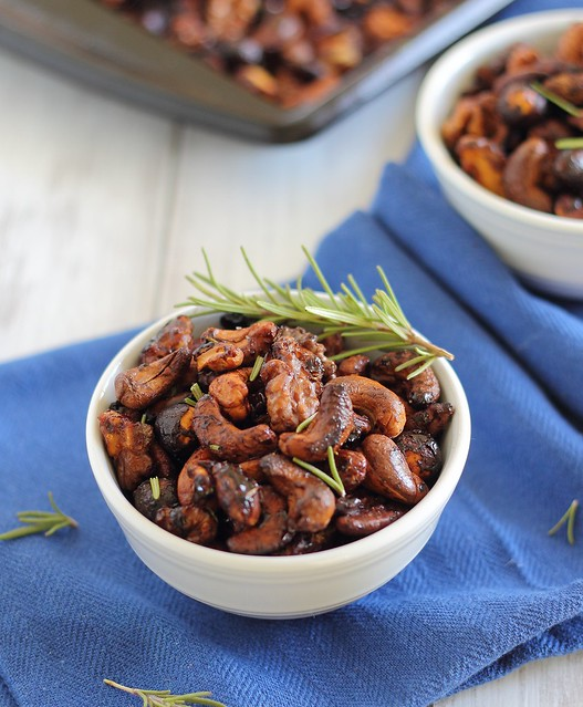 Spiced Rosemary Maple Nuts
