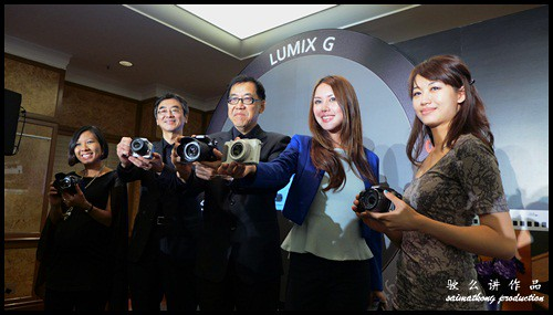 Chris Tomachi (2nd from left), Deputy Managing Director and Jeff Lee (center), Managing Director, Panasonic Malaysia during the launch of the event