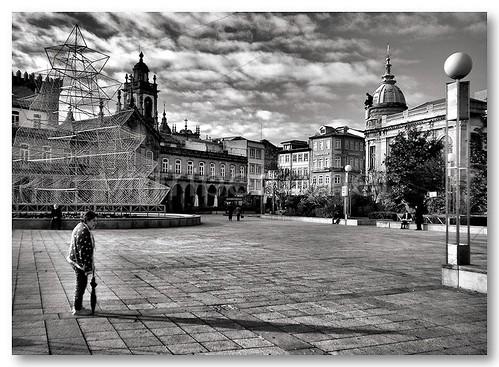Praça da República em Braga by VRfoto