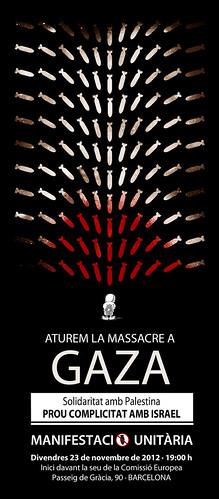 Solidaritat amb palestina. Concentració 23 de novembre a Barcelona