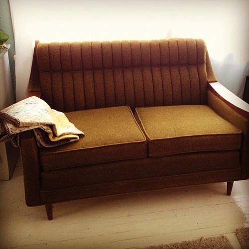 According to the children, this is a love couch. #newfurniture