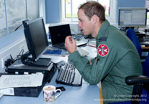 Flight Lieutenant William Wales on shift at C Flight 22 Squadron