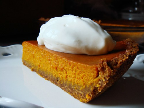 Ginger Not-Pumpkin Pie with Graham Crust: Dollop of Greek Yogurt