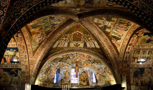 Frescoes in Lower Basilica of St. Francis of Assisi, Italy