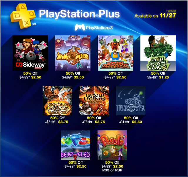 PlayStation Store Update 11-27-2012