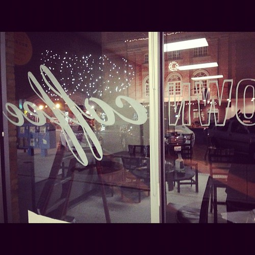 Just hand painting a logo on some windows. #adayinthelife
