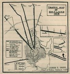 Traffic Map of Oakland (1926)