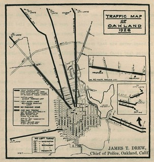 Traffic Map of Oakland (1926)