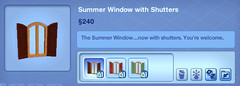 Summer Window with Shutters