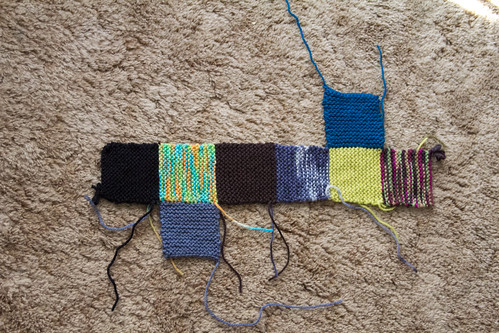 8 squares socks layout