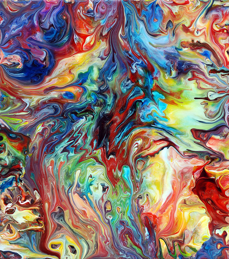 Colourful Fluid Painting 65