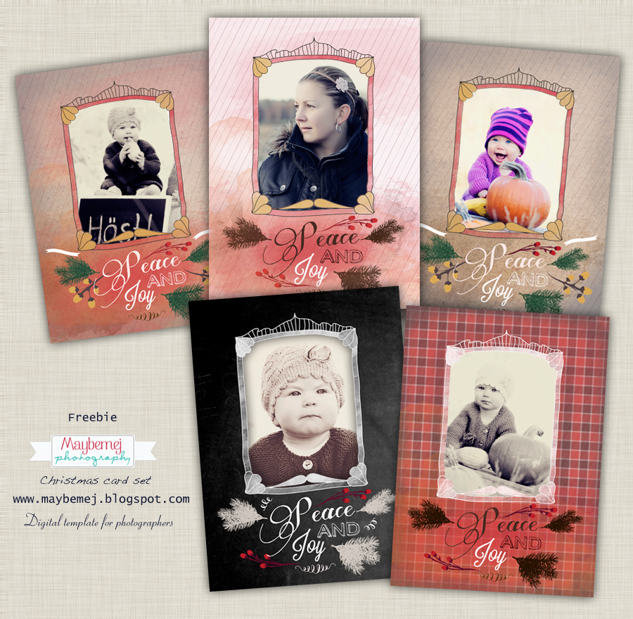 Fotograf pa smogen digital freebie christmas card templates for Digital christmas cards templates