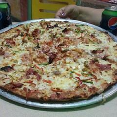 frittata(0.0), sicilian pizza(1.0), tarte flambã©e(1.0), pizza cheese(1.0), pizza(1.0), meat(1.0), food(1.0), dish(1.0), european food(1.0), cuisine(1.0),