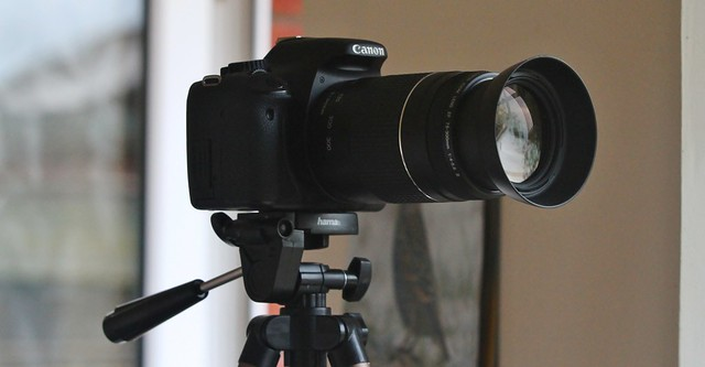 Backup Camera Canon 550D And Canon EF 75-300mm f/4-5.6 III
