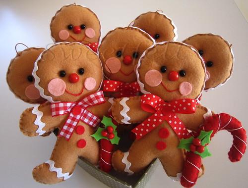 ♥♥♥ Gingerbread man... by sweetfelt \ ideias em feltro