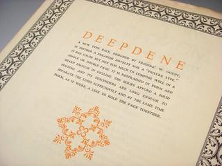 Deepdene type specimen booklet
