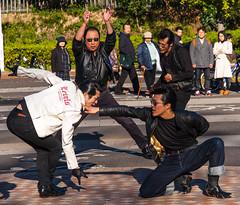 Dancers in Yoyogi Park, Shibuya, Tokyo, Japan