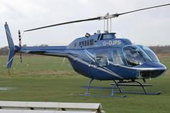 G-OJPS - 1974 build Bell 206B Jet Ranger II, visiting Barton whilst on pipeline inspection duties