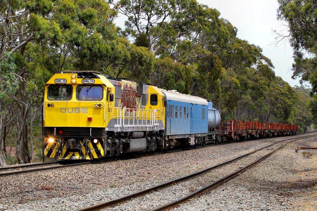 GML10 4M12 Loaded ARTC Rail Train Belair 04 12 2012 by Daven Walters