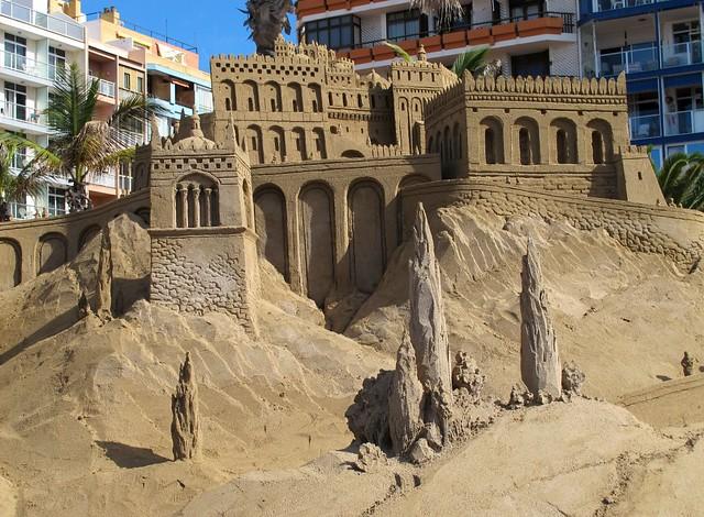 Fotos 7º Belén de arena 2012, de la playa de Las Canteras.Las Palmas de Gran Canaria
