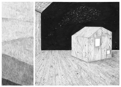 Drawing For 'A Cabin In A Loft' by miranda pfeiffer