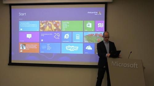 Apie Windows 8 pasakoja Microsoft