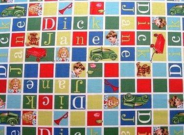 Dick and Jane Flannel Fabric