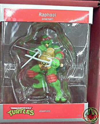 "AMERICAN GREETINGS :: TEENAGE MUTANT NINJA TURTLES - ""RAPHAEL"" Ornament  / ..alternate box packaging (( 2012 ))"