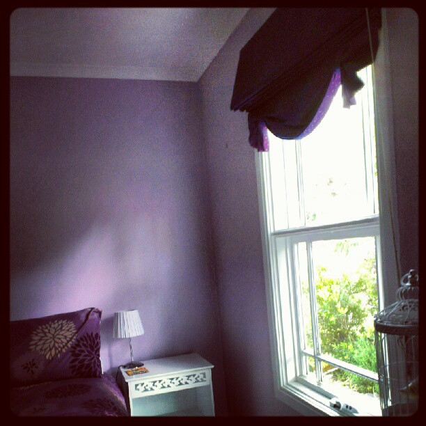 For grace, purple bedroom