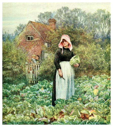 022- Recolectando coles-Happy England as painted by Helen Allingham-1903
