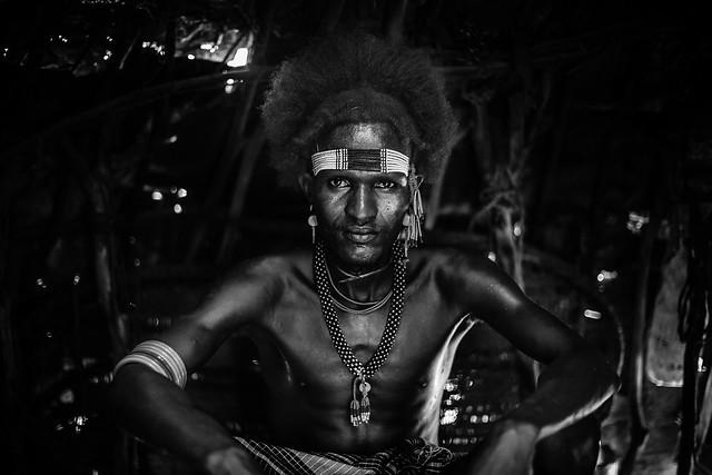 portrait of a boy Dassanech(galeb) tribe style