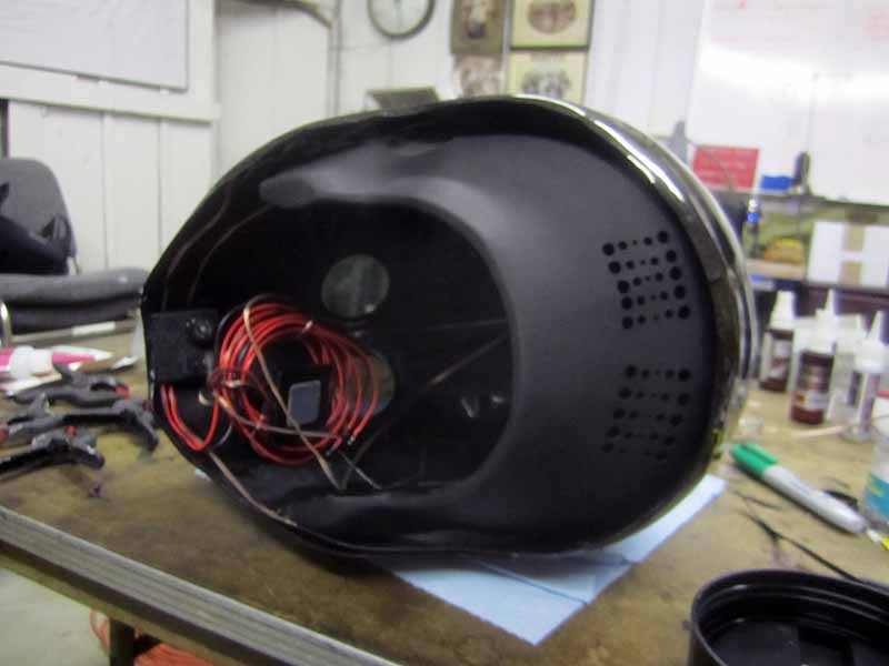 Helmet Assembled With Rear Fairing