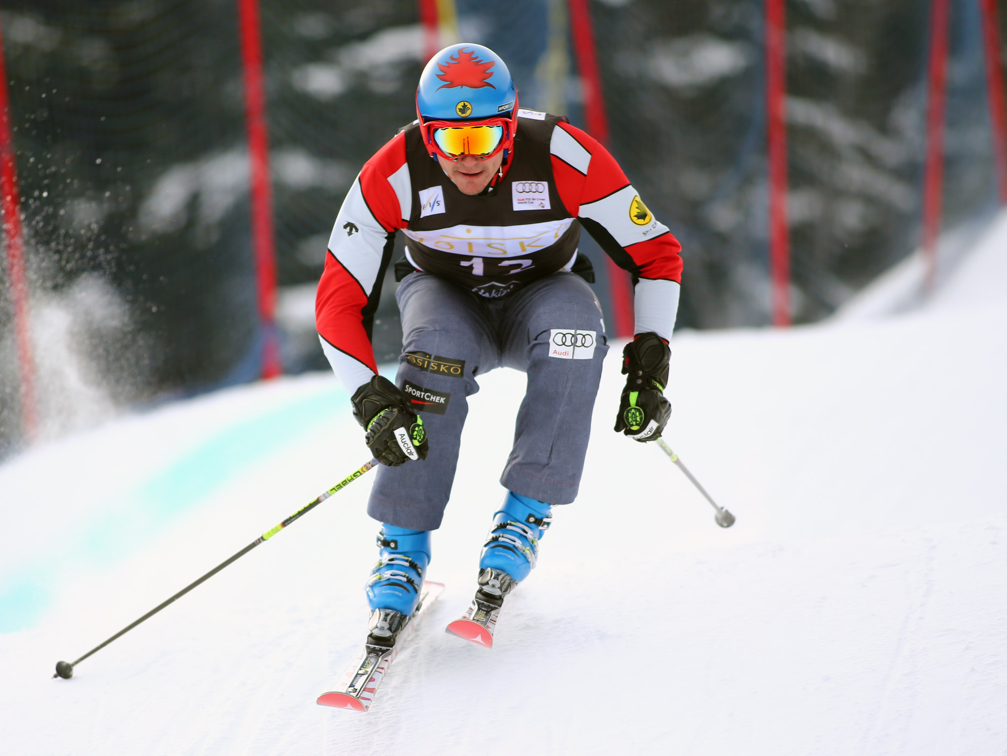 Tristan Tafel at the inaugural Nakiska ski cross World Cup.