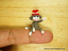 image of tiny sock monkey