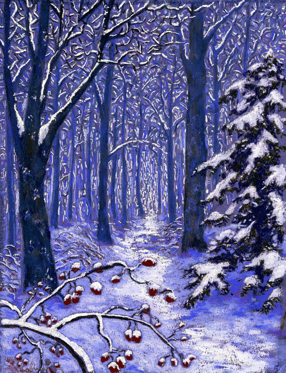 Enter this Enchanted Realm, a pastel painting by Stephanie Thomas Berry