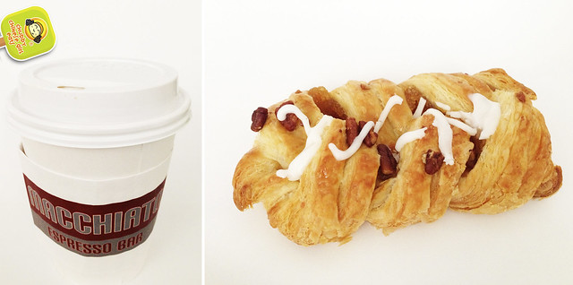 Macchiato Expreso Bar - latte and maple pecan danish