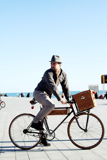 Vintage bicycle on the beach