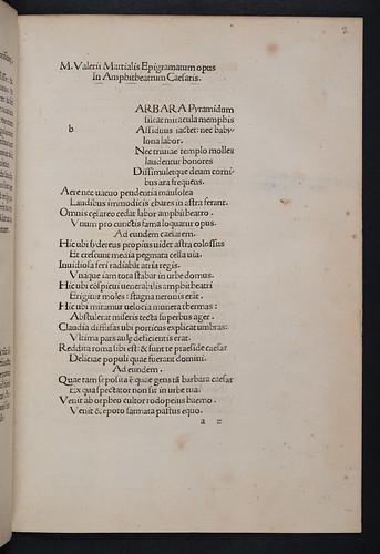 Caption title of Martialis, Marcus Valerius: Epigrammata