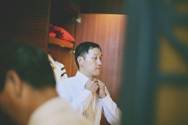 婚禮攝影-打領帶