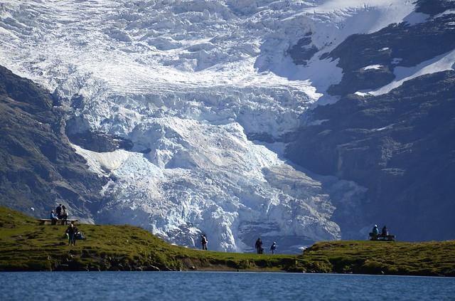 between Lake and Glacier ...